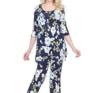 Print 2-Piece Blue Flowers Print Set SET-027